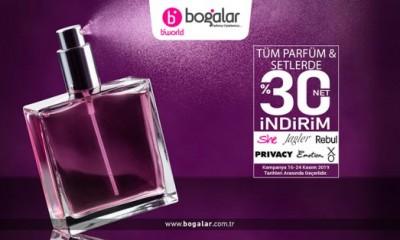Tüm Parfüm & Setlerde Net %30 İndirim...